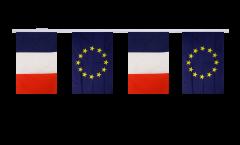 France - European Union EU Friendship Bunting Flags - 5.9 x 8.65 inch
