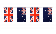 Great Britain - Australia Friendship Bunting Flags - 5.9 x 8.65 inch