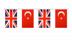 Great Britain - Turkey Friendship Bunting Flags - 5.9 x 8.65 inch