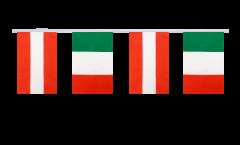 Austria - Italy Friendship Bunting Flags - 5.9 x 8.65 inch