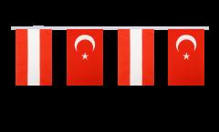 Austria - Turkey Friendship Bunting Flags - 5.9 x 8.65 inch