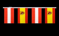 Austria - Spain Friendship Bunting Flags - 5.9 x 8.65 inch