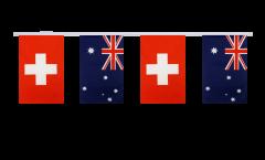 Switzerland - Australia Friendship Bunting Flags - 5.9 x 8.65 inch