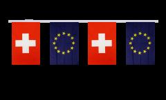 Switzerland - European Union EU Friendship Bunting Flags - 5.9 x 8.65 inch