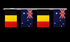 Belgium - Australia Friendship Bunting Flags - 5.9 x 8.65 inch
