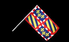 France Burgundy Hand Waving Flag - 2 x 3 ft.