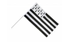 France Brittany Hand Waving Flag - 2 x 3 ft.
