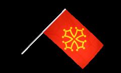 France Midi-Pyrénées Hand Waving Flag - 2 x 3 ft.