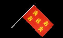 France Poitous-Charente Hand Waving Flag - 2 x 3 ft.