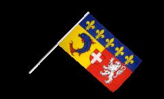 France Alpes Hand Waving Flag - 2 x 3 ft.