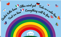 Everything will be fine - Rainbow Flag - 3 x 5 ft. / 90 x 150 cm