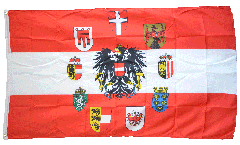 Austria with 9 crests Flag