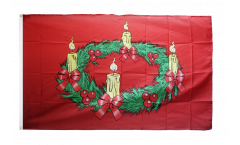 Advent wreath Flag - 3 x 5 ft. / 90 x 150 cm