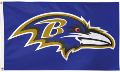NFL Baltimore Ravens Flag - 3 x 5 ft. / 90 x 150 cm