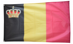 Belgium with crown Flag - 3 x 5 ft. / 90 x 150 cm