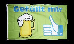 Beer Gefällt mir Flag - 3 x 5 ft. / 90 x 150 cm