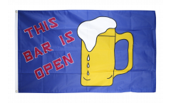 Beer This Bar is Open Flag - 3 x 5 ft. / 90 x 150 cm