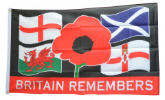 Britain Remembers Flag - 3 x 5 ft. / 90 x 150 cm