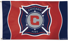 MLS Chicago Fire Flag - 3 x 5 ft. / 90 x 150 cm