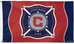 MLS Chicago Fire Flag - 3 x 5 ft. / 90 x 150 cm