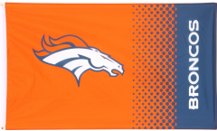 NFL Denver Broncos Fan Flag - 3 x 5 ft. / 90 x 150 cm