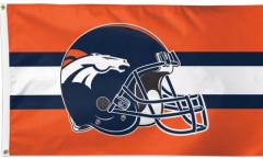 Denver Broncos Helmet Flag