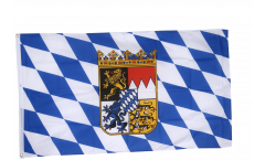 Germany Bavaria with coat of arms Flag