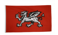 England white dragon Flag - 3 x 5 ft. / 90 x 150 cm