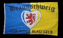 Fan Braunschweig Für immer blau gelb Flag