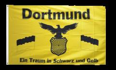 Fan Dortmund - Traum in Schwarz und Gelb Flag