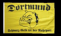 Fan Dortmund bulldog Ruhrpott Flag