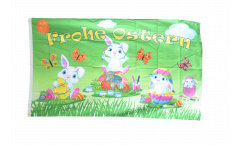 Frohe Ostern Easter Bunny 2 Flag - 3 x 5 ft. / 90 x 150 cm