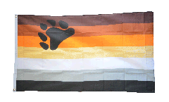 Gay Pride Bear Flag - 3 x 5 ft. / 90 x 150 cm