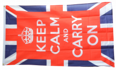 Great Britain Keep calm and carry on Flag - 3 x 5 ft. / 90 x 150 cm