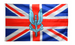 Great Britain with SAS Crest - Who dares wins Flag - 3 x 5 ft. / 90 x 150 cm