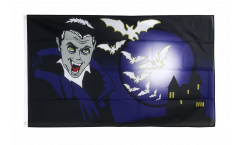 Halloween Vampire and Bats Flag - 3 x 5 ft. / 90 x 150 cm