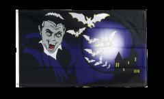 Halloween Vampire and Bats Flag