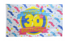 Happy Birthday 30 Flag - 3 x 5 ft.