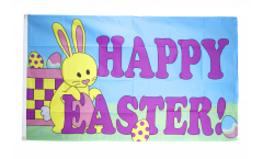 Happy Easter with Bunny Flag - 3 x 5 ft. / 90 x 150 cm