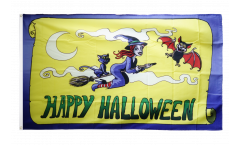 Happy Halloween yellow Flag - 3 x 5 ft. / 90 x 150 cm