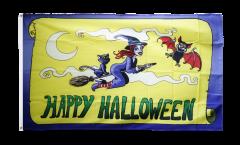 Happy Halloween yellow Flag
