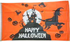 Happy Halloween orange Flag