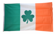 Ireland with Shamrock symbol Flag