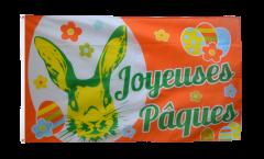 Joyeuses Pâques - Happy Easter Flag - 3 x 5 ft. / 90 x 150 cm