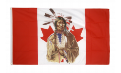 Canada Indian Flag - 3 x 5 ft. / 90 x 150 cm