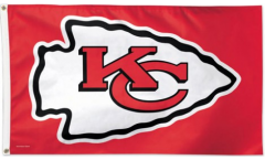 NFL Kansas City Chiefs Flag - 3 x 5 ft. / 90 x 150 cm