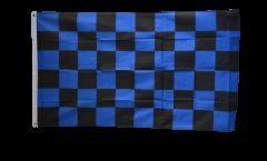Checkered blue-black Flag - 3 x 5 ft. / 90 x 150 cm