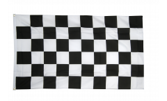 Checkered black-white Flag