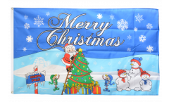 Merry Christmas North Pole Flag - 3 x 5 ft. / 90 x 150 cm