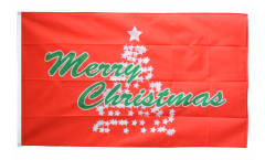 Merry Christmas Christmas tree red Flag - 3 x 5 ft. / 90 x 150 cm